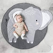 Amazon Com Nursery Style Elephant Moon And Stars Kids Baby Room Childrens Floor Area Rug Mat Furniture Decor