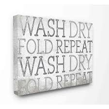 Wash Dry Fold Repeat Laundry Canvas Wall Art Bed Bath Beyond