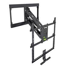 kanto pull down fireplace tv mount for