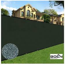 Boen 6 Ft X 15 Ft Black Privacy Fence Screen Netting Mesh With Reinforced Grommet For Chain Link Garden Fence Pn 30050 The Home Depot