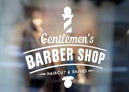 Barber Shop Sign Window Sticker Decal Urban Artwork