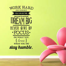 Free Shipping Motivation Wall Decals Office Room Decor Never Give Up Work Hard Dream Big Inspirational Quote Wall Stickers Sticker Decal Paper Stickerdecal Supplier Aliexpress