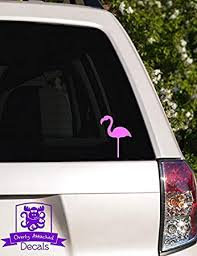 Amazon Com Overly Attached Decals Lawn Flamingo Vinyl Car Decal 4 Pink Automotive