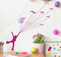 Kids Flying Birds Wall Sticker Tenstickers