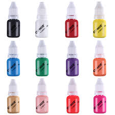 Ophir Pro 12 Kolorow Do Paznokci Airbrush Farby 10 Ml Butelka