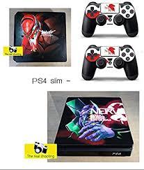 Amazon Com Xbriteq Ps4 Slim Neon Genesis Evangelion Skin Vinyl Sticker Decal Video Games