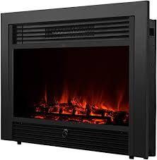 fireplace electric insert heater glass