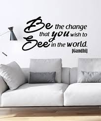 Ambiance Sticker Be The Change Gandhi Quote Wall Decal Set Best Price And Reviews Zulily