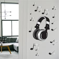 Headphone Music Wall Mural Decal Music Wall Decal Murals Primedecals