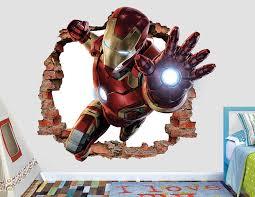 Iron Man Wall Art Canvas 3d Decal Painting Lamp Wallpaper Mask Giant Stickers Amazon Vamosrayos