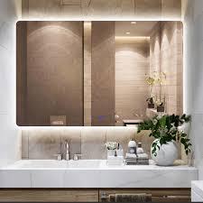 wall mirror led light for bathroom