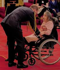 Also honoured by The Duke of Cambridge today was Rosemary Johnson ...