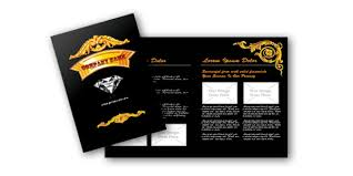 jewelry brochure templates