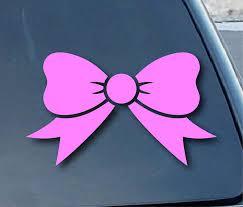 Amazon Com Spdecals Bow Tie Car Window Vinyl Decal Sticker 4 Wide Color Pink Automotive