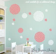 White Tree Wall Decal Modern Flower Nursery Peony Art Girl Rose Large Decorations Vamosrayos
