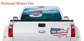 Big White Shark Decal Truck Window Wrap Hunting Fish Full Etsy