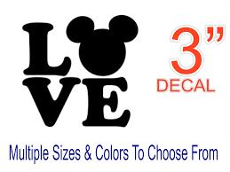 Disney Love Mickey Cell Phone Vinyl Decal Disney Sticker Etsy