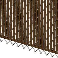 Pds Bl Chain Link Fence Slats Bottom Lock 6 Foot Brown