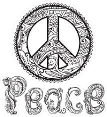 Retro Black And White Peace Sign Sticker