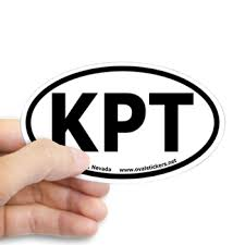 Jackpot Nevada Kpt Oval Car Decal Airport Codes Oval Bumper Stickers By Ovalstickers Net