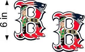 Boston Sports Fan B Logo Pair 6 Decal Patriots Red Sox Bruins Ebay