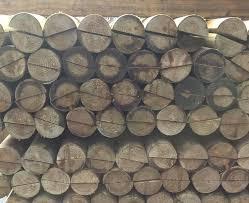 Half Round Machined Rails Timber Posts Timber Fencing Ashford Kent