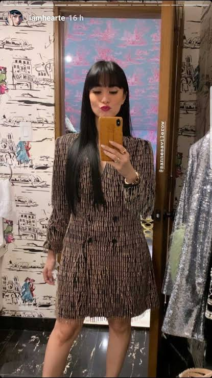 Image result for heart evangelista full bangs""