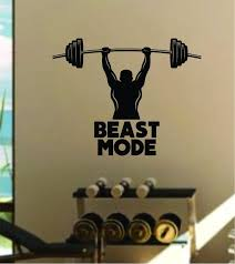 Beast Mode V4 Quote Fitness Health Work Out Gym Decal Sticker Wall Vin Boop Decals