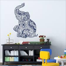 Indian Elephant Vinyl Wall Art Decal