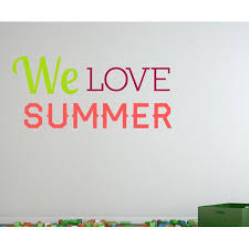 We Love Summer Quote Wall Decal Vinyl Decal Car Decal Idcolor003 25 Inches Walmart Com