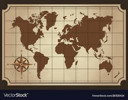 old world map isolated royalty free