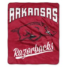 Arkansas Razorbacks Essential Raschel Blanket Throw