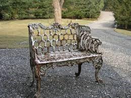 kramer bros cast iron garden bench