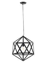 hexagon black metal chandelier modern