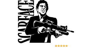 Amazon Com Scarface Vinyl Decal Sticker Bumper Car Truck Window 6 Wide Gloss White Color Arts Crafts Sewing