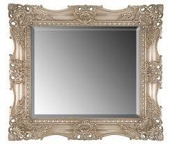 rectangular mirror wall overmantle 94x69 cm