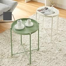 coffee table wrought iron round tray