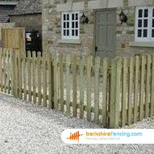 Rounded Picket Fence Panels 2ft X 6ft Natural Berkshire Fencing