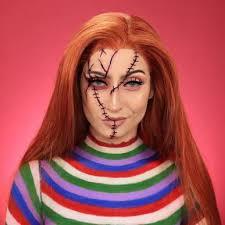 chucky makeup for