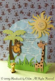 Safari Theme Invitation Card Con Imagenes Invitaciones