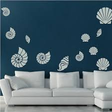 Seashell Wall Art Decals Trendy Wall Designs
