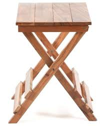 folding side table stool transitional