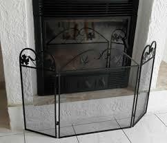 vintage fire guard screen fireplace