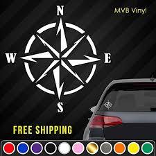 Amazon Com Compass Vinyl Decal Sticker Nautical Navigation Car Truck Window Laptop 764 Handmade