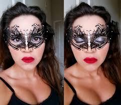 halloween homemade masquerade and make