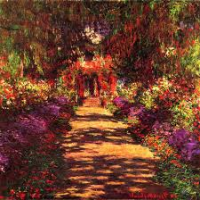 path in monets garden in giverny by