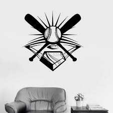 3d Vinyl Wall Decals Baseball Sport Decor For Men Sports Fan Garage Wall Stickers Home Decor Living Room Self Adhesive Yy566 Stickers Home Decor Home Decordecoration Living Aliexpress