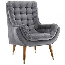 Beksho Performance Velvet Tufted Lounge Chair