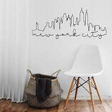 Amazon Com Advancedecalshop New York City Outline Outlined New York City Skyline Wall Vinyl Decal Home Kitchen