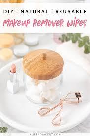 natural diy makeup remover wipes